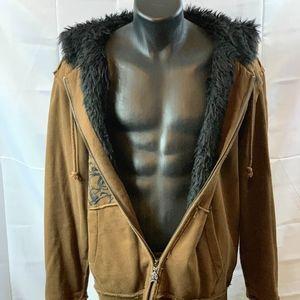 American Rag Furry Zip Hoodie